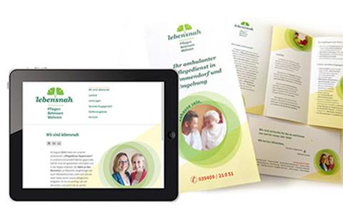 Lebensnah Pflegedienst Corporate Design